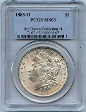 1885-O $1 Morgan Silver Dollar. PCGS Graded MS 63. Lot#1870