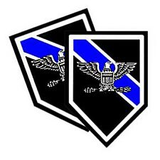 Thin Blue Line Sheriff Police Chief Eagle Rank Decals Pack Of Two