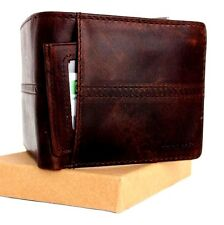Men's Real Leather Wallet 7 Credit Card slots 1 id window 1 Coin Pocket Bifold s