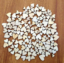 100pc Wooden MINI MIXED HEARTS Cardmaking Scrapbooking Craft Embellishment Shape
