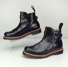 Dr. Martens Dealer Boots Kenton Black Polished Men's Size US 8 Slip On Buckle