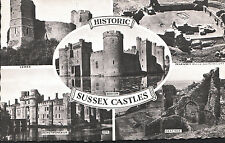 Sussex Postcard - Views of Historic Sussex Castles   A5096