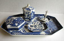 Blue Willow Wedgwood Dressing Table set