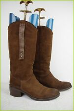 Boots MINELLI Suede Studded Dark Chocolate T 39 VERY GOOD CONDITION