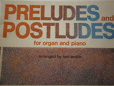 1977 Edition Preludes and Postludes Church Organ & Piano Rugged Cross Psalm 19