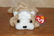 NEW TY VERY RARE AND RETIRED BEANIE BABIES WRINKLES THE BULLDOG BABY MWMT