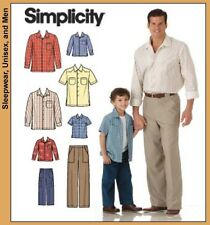 NEW Simplicity Boys / Mens Sewing Pattern 4760 Pants & Shirt | Trousers & Shirts