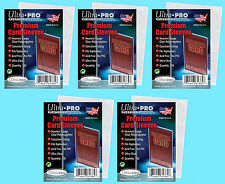 500 ULTRA PRO PREMIUM Poly Soft CARD SLEEVES NEW No PVC Sports Trading Baseball