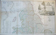England and Wales: large scale antique map by Thomas Kitchin, 1794