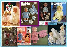 200+ VINTAGE DOLL Crochet & Knitting PATTERNS ~ Good variety of patterns