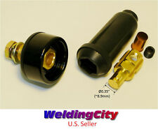 WeldingCity Welding Cable Panel Socket Connector Set 100-200A (#6-#4) 16-25 MM^2