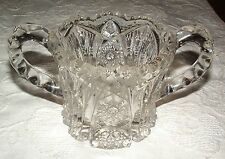 BEAUTIFUL ANTIQUE 1913 CLEAR HEAVY NU CUT IMPERIAL GLASS OPEN SUGAR BOWL #212