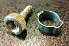 Brass Bike Hand Floor Air Pump Silca Schrader Valve Thread On Tire Chuck Clamp