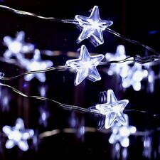 Gerson 39193 Star String LED 20 Light  Silver Wire Cool White Miniature Garden