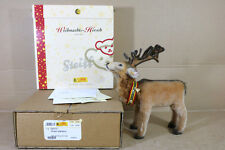STEIFF 037771 CHRISTMAS STAG 26cm DEER STANDING LIMITED EDITION MINT BOXED ng