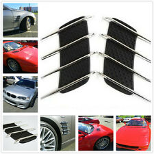 Chrome Hoods & Fenders Decorative Air Intake Grille Vent Stickers For Most Cars