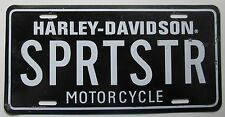 1990's HARLEY-DAVIDSON SPORTSTER MOTORCYCLE BOOSTER License Plate