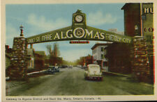 Gatewat to Algomas District & Sault Ste. Marie Ontario Postcard 1940s