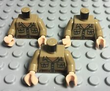 Lego X3 New Rene Belloq Complete Torso With Packets,belt Pattern,Flesh Hands