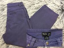 Vintage Mom Jeans Size 8P High Waist Purple Tapered Leg Style & Co Grunge 90s