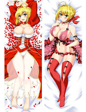 Fate Grand Order Saber Nero Dakimakura Pillow Case Cover Hug body