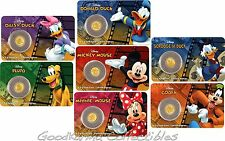 2016 Niue $2 Proof Gold 9999 .5g Disney Mickey & Friends ~ Set of 7 In OGP Cards