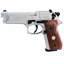 Umarex 2253002 Beretta M92 FS Nickel Wood .177 Caliber CO2 Semi Auto Air Pistol