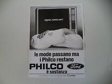 advertising Pubblicità 1972 TELEVISORE PHILCO
