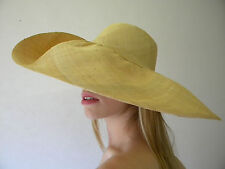 Summer Hat New Ladies Natural Oat Floppy Hand Made Raffia Natural One Size Straw