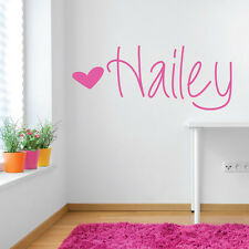 Personalized Heart-Shape Sticker Custom Any Name Vinyl Wall Decal Home Decor