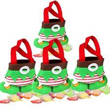 Weihnachtsmann Elf Spirit Stiefel Schuhe Candy Bag Sack Strumpf Füller Neu