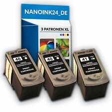 3x Tintenpatronen für CANON PG40 XL + CL41 XL IP2500 IP2600 MX300 MX310 bei Nano