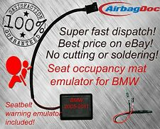 Fit BMW Series 5 E60 E61 M5 Passenger Seat Occupancy Mat Bypass Airbag Light Fix