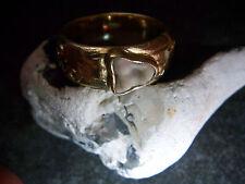 WMM-Trachten-trau-Ring - astloch-Borken motivo - - 585-GIALLO-ORO - 17,1-gr.