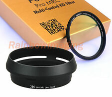 JJC LH-LHP1 Lens Hood as SONY LHP-1 & 49mm MRC UV Filter for SONY RX1 RX1R II