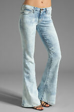 Current Elliott low bell jeans crazy wash fading throughout SZ 26 New