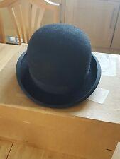 Vintage pour homme chapeau melon woodrow piccadilly london 7 et 1/4 burlington noir
