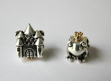 Pandora Happily Ever After and Frog Prince Charm Bead Authentic Silver Gold ALE