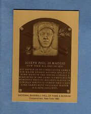 JOE DiMAGGIO, Yankees official Baseball Hall of Fame METALLIC plaque-card 1/1000