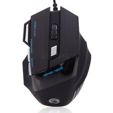 LED Optical 5500 DPI 7 Button USB Wired Gaming Mouse Mice For Pro Gamer PC New