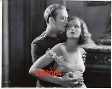 GRETA GARBO Older Restrike RARE Photo SEXY Busty Cleavage Off-Shoulder Couple