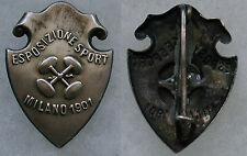 """DISTINTIVO ORIGINALE STILE LIBERTY GINNASTICA """"ESPOSIZIONE DELLO SPORT / 1901"""""""