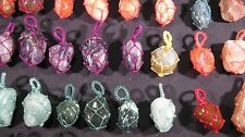 Pendant Tumbled Stone Crystal Cloth Wrapped 70 Pieces Totat RSVP DANNIKA26