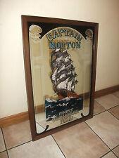 Captain NORTON Caribbean Rum, Old Irish pub Mirror, Very RARE. Pub Auction,
