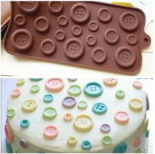 Brown Button Muffin Silicone Sweet Candy Jelly Ice Mould Mold Baking Pan Tray US