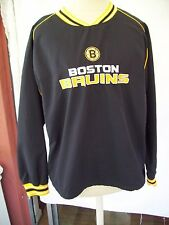 BOSTON BRUINS HOCKEY YOUTH Pullover Windbreaker Jacket LG (14/16 NHL LIC PRODUCT
