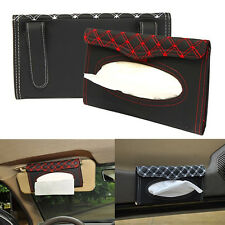 Car Auto PU Clip Sun Visor Tissue Box Paper Case Cover Napkin Holder Universal