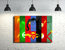 Justice League framed Canvas wall art Superman, Batman, Flash, Wonder Woman