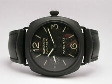 PANERAI BLACK SEAL CERAMIC PAM00292 45MM BLACK DIAL & LEATHER STRAP MEN'S WATCH