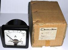 Ampèremètre AC DC 0-5A ou 0-50A NOS Cie de Construction Electrique